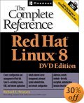 [Red Hat Linux 8: The Complete Reference, DVD Edition cover]